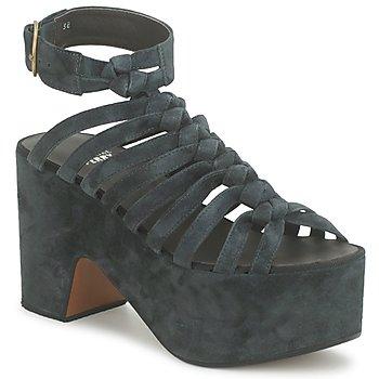 Pantofi Femei Sandale și Sandale cu talpă  joasă Michel Perry 12676 Dark