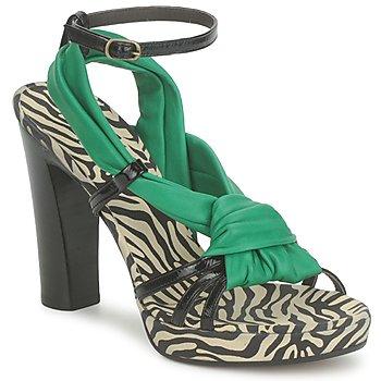 Pantofi Femei Sandale și Sandale cu talpă  joasă Michel Perry 12709 Smarald