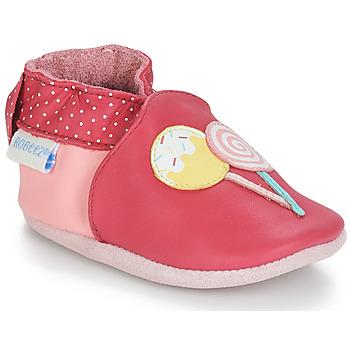 Pantofi Fete Botoșei bebelusi Robeez FUNNY SWEETS Roz / Alb