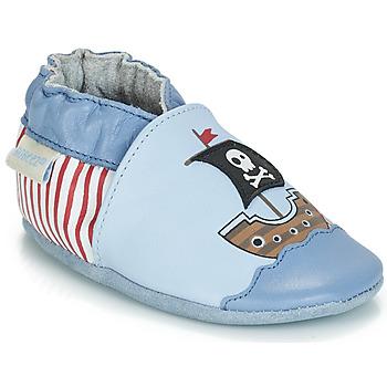 Pantofi Băieți Botoșei bebelusi Robeez PIRATE'S BOAT Albastru