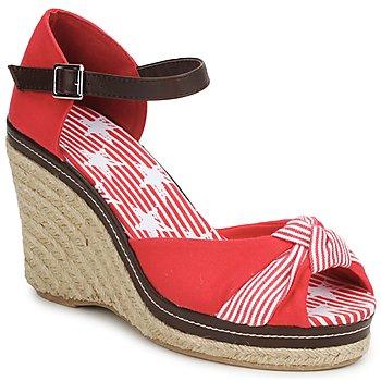Pantofi Femei Sandale și Sandale cu talpă  joasă StylistClick PATTY Roșu