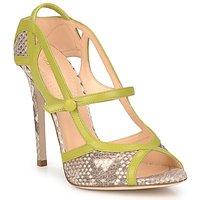 Pantofi Femei Sandale și Sandale cu talpă  joasă Roberto Cavalli RPS678 Piton / Verde