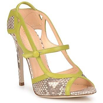Pantofi Femei Sandale  Roberto Cavalli RPS678 Piton / Verde