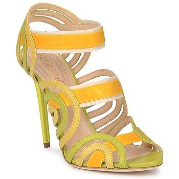Pantofi Femei Sandale  Roberto Cavalli RPS691 Verde / Galben