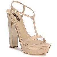 Pantofi Femei Sandale și Sandale cu talpă  joasă Roberto Cavalli RDS735 Bej / Nude