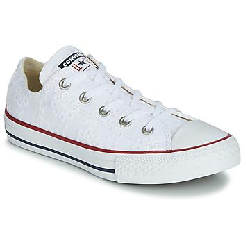 Pantofi Fete Pantofi sport Casual Converse CHUCK TAYLOR ALL STAR BROADERIE ANGLIAS OX Alb