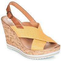 Pantofi Femei Sandale și Sandale cu talpă  joasă Elue par nous EMPIRE Galben