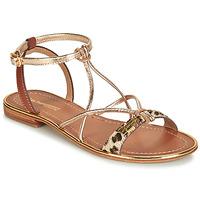 Pantofi Femei Sandale  Les Tropéziennes par M Belarbi HIRONDEL Leopard / Auriu