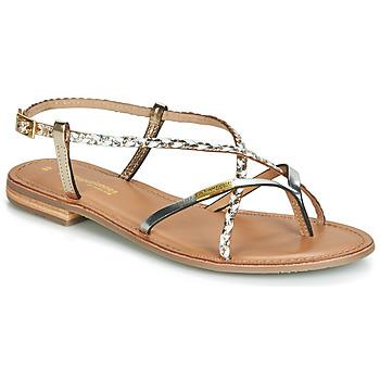 Pantofi Femei Sandale și Sandale cu talpă  joasă Les Tropéziennes par M Belarbi MONATRES Alb / Auriu