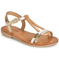 Pantofi Fete Sandale și Sandale cu talpă  joasă Les Tropéziennes par M Belarbi BADA Auriu / Alb