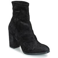 Pantofi Femei Botine Caprice  Black / Velvet