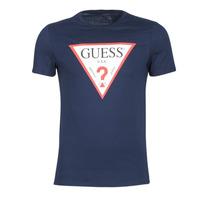 Îmbracaminte Bărbați Tricouri mânecă scurtă Guess ORIGINAL Bleumarin