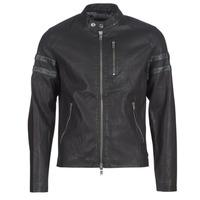 Îmbracaminte Bărbați Jachete din piele și material sintetic Guess COOL BIKER Negru