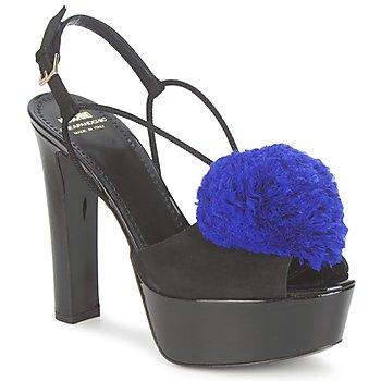 Pantofi Femei Sandale  Moschino Cheap & CHIC CA1608  ooc-negru-albastru / Klein