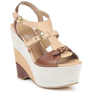 Pantofi Femei Sandale și Sandale cu talpă  joasă Moschino Cheap & CHIC STERLIZIA Bej-maro