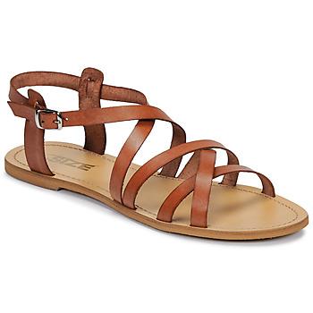 Încăltăminte Femei Sandale și Sandale cu talpă  joasă So Size IDITRON Maro