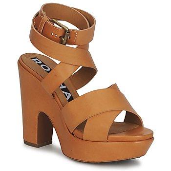 Pantofi Femei Sandale și Sandale cu talpă  joasă Rochas RO18082 Maro