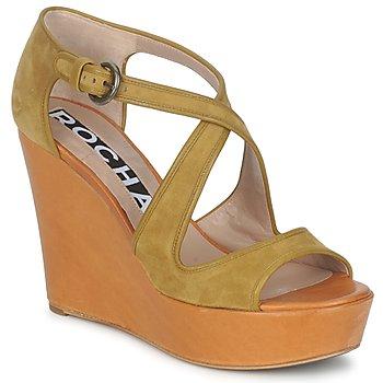 Pantofi Femei Sandale și Sandale cu talpă  joasă Rochas RO18131 Maro