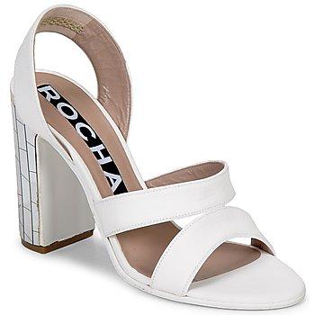 Încăltăminte Femei Sandale și Sandale cu talpă  joasă Rochas RO18244 Alb