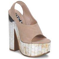 Pantofi Femei Sandale și Sandale cu talpă  joasă Rochas RO18175 Tabac