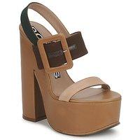 Încăltăminte Femei Sandale și Sandale cu talpă  joasă Rochas RO18231 Brun / Bej