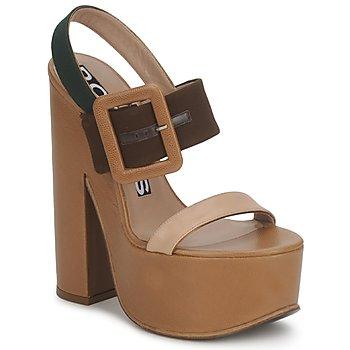 Pantofi Femei Sandale și Sandale cu talpă  joasă Rochas RO18231 Brun / Bej