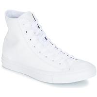 Pantofi Pantofi sport stil gheata Converse CHUCK TAYLOR ALL STAR CUIR  HI Alb