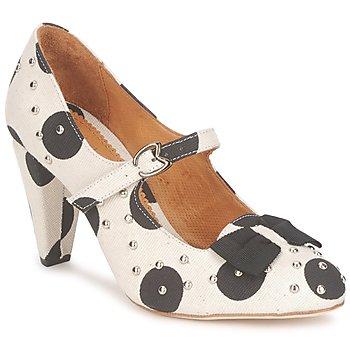 Încăltăminte Femei Pantofi cu toc Maloles CLARITA Alb / Negru