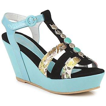 Pantofi Femei Sandale și Sandale cu talpă  joasă Regard RAFAVO Negru / Albastru