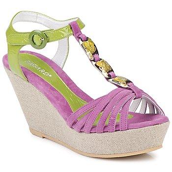 Pantofi Femei Sandale și Sandale cu talpă  joasă Regard RAFAZA Violine / Verde