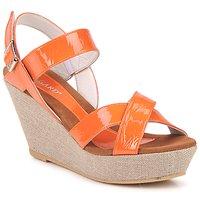 Pantofi Femei Sandale și Sandale cu talpă  joasă Regard RAGA Portocaliu