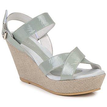 Pantofi Femei Sandale și Sandale cu talpă  joasă Regard RAGA Verde / Pale