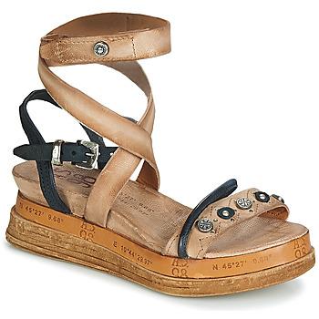 Încăltăminte Femei Sandale și Sandale cu talpă  joasă Airstep / A.S.98 LAGOS Bej / Negru