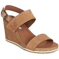 Pantofi Femei Sandale  Timberland CAPRI SUNSET WEDGE Maro