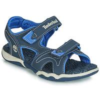 Încăltăminte Copii Sandale și Sandale cu talpă  joasă Timberland ADVENTURE SEEKER 2 STRAP Albastru