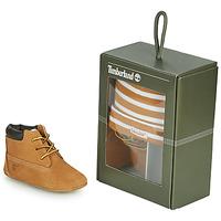 Pantofi Copii Papuci de casă Timberland CRIB BOOTIE WITH HAT Galben-grâu / Maro