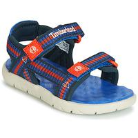 Încăltăminte Copii Sandale și Sandale cu talpă  joasă Timberland PERKINS ROW WEBBING SNDL Albastru
