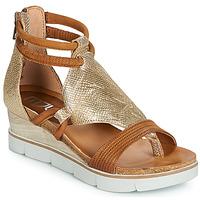 Pantofi Femei Sandale și Sandale cu talpă  joasă Mjus TAPASITA Auriu / Camel