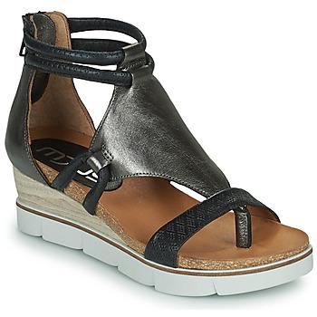 Pantofi Femei Sandale și Sandale cu talpă  joasă Mjus TAPASITA Negru / Argintiu