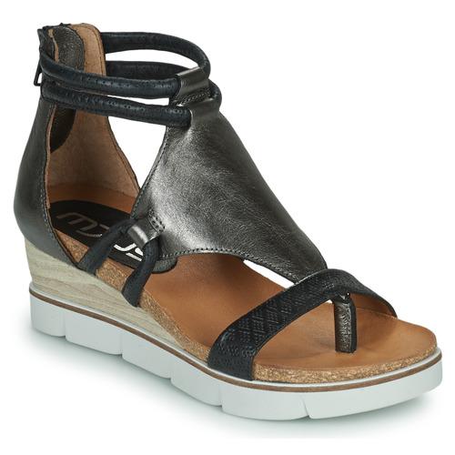 Pantofi Femei Sandale  Mjus TAPASITA Negru / Argintiu