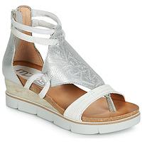Pantofi Femei Sandale și Sandale cu talpă  joasă Mjus TAPASITA Alb / Argintiu