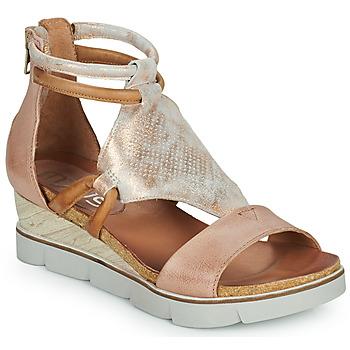 Pantofi Femei Sandale și Sandale cu talpă  joasă Mjus TAPASITA Roz / Auriu