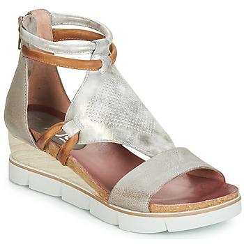 Pantofi Femei Sandale și Sandale cu talpă  joasă Mjus TAPASITA Argintiu