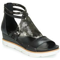 Pantofi Femei Sandale și Sandale cu talpă  joasă Mjus TAPASITA Negru / Metalizat