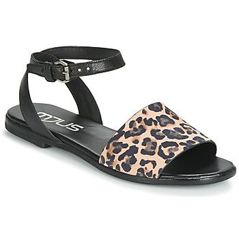 Pantofi Femei Sandale și Sandale cu talpă  joasă Mjus CHAT LEO Negru / Leopard