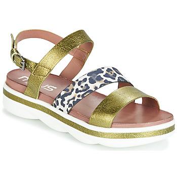 Pantofi Femei Sandale și Sandale cu talpă  joasă Mjus TALISMAN Verde / Leo