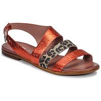 Pantofi Femei Sandale și Sandale cu talpă  joasă Mjus CHAT BUCKLE Roșu / Leopard