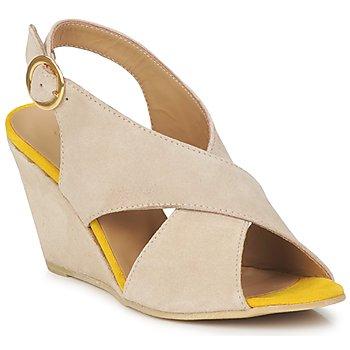 Încăltăminte Femei Sandale și Sandale cu talpă  joasă Pieces OTTINE SHOP SANDAL Taupe