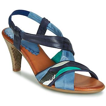Pantofi Femei Sandale și Sandale cu talpă  joasă Betty London POULOI Albastru / Verde