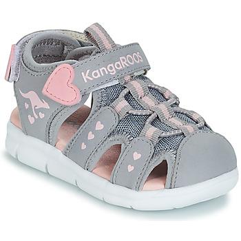 Pantofi Fete Sandale și Sandale cu talpă  joasă Kangaroos K-MINI Gri / Roz